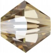 25 x 6mm SWAROVSKI® ELEMENTS Crystal Gold Shadow Xilion Beads